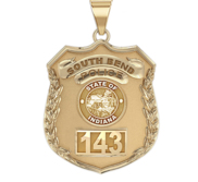Personalized Indiana Police Badge with Your Number   Department