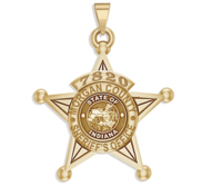 Personalized 5 Point Star Indiana Sheriff Badge with your Dept   Rank and Number