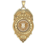 Personalized Rhode Island Corrections Badge with Your Rank and Number