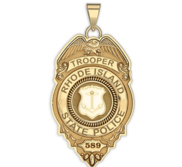 Personalized Rhode Island State Trooper Police Badge with Your Rank and Number