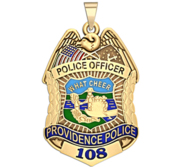 Personalized Providence Rhode Island Police Badge with Your Rank and Number