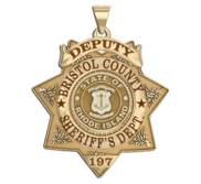 Personalized 7 Point Star Rhode Island Sheriff Badge with Rank  Number   Dept