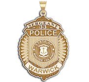 Personalized Rhode Island Police Badge with Your Rank  Number   Department