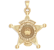 Personalized Vermont Sheriff Badge with Your Department  Rank and Number