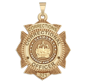 Personalized Vermont Corrections Badge with Your Rank and Number