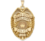 Personalized Vermont Police Badge with Your Rank  Number   Department