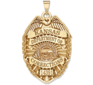 Personalized Kansas Department of Corrections Badge with Your Rank and Number
