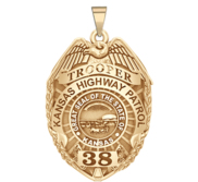 Personalized Kansas Highway Patrol Police Badge with Your Rank  Number   Department