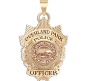 Personalized Overland Park Kansas Police Badge with Your Rank and Number