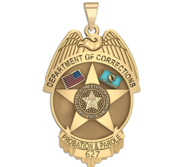 Personalized Oklahoma Corrections Badge with Your Rank and Number