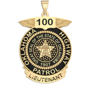Personalized Oklahoma State Trooper Badge with Your Rank and Number
