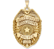 Personalized Oklahoma Police Badge with Your Rank  Number   Department