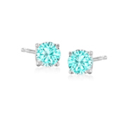 Pair of 5mm Aquamarine Stud Earrings