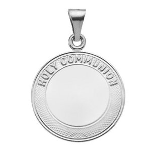 Sterling Silver First Holy Communion Religious Medal