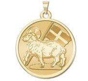 Agnes Dei Round Religious Medal   EXCLUSIVE