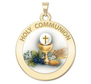 Holy Communion Religious Chalice Medal  Color EXCLUSIVE
