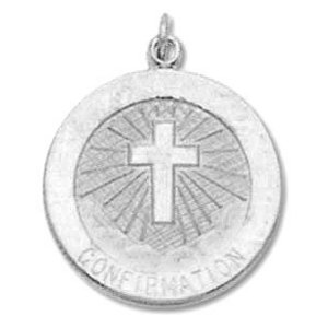 Sterling Silver Confirmation Religious Medal