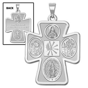4 Way Cross Religious Medal   EXCLUSIVE