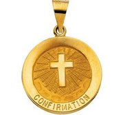 14K Gold Confirmation Religious Medal  H