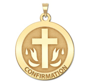 Nickel Sized Confirmation Religious Medal