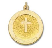 14K Gold Confirmation Religious Medal