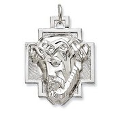 Sterling Silver Polished ECCE HOMO Cross Medal