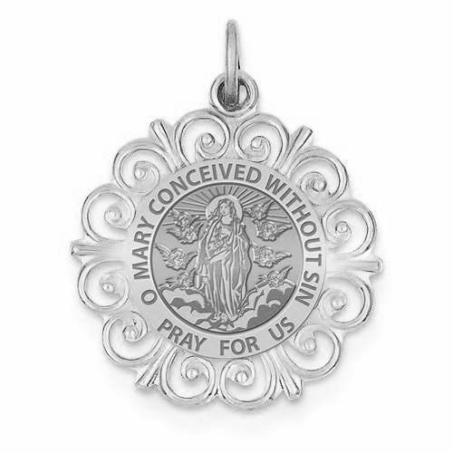 PicturesOnGold.com Pope Saint Sixtus III Religious Medal 14K Yellow or White Gold or Sterling Silver