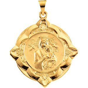 14K Gold Our Lady of Perpetual Help