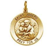 Saint Joseph Round Religious Medal