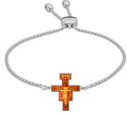 Women s Adjustable San Damiano Color Laser Bracelet
