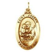 Saint Joseph Oval Religious Medal