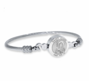 Stainless Steel Saint Clare Bangle Bracelet