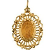 14K Gold Our Lady Of Guadalupe Religious Medal