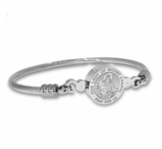 Stainless Steel Our Lady of Mount Carmel Bangle Bracelet