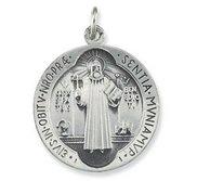 Saint Benedict Round Jubilee Religious Medal