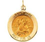 Saint Mark Round Religious Medal
