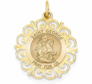 Round Filigree Saint George  EXCLUSIVE