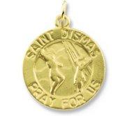 14K Gold Saint Dismas Religious Medal
