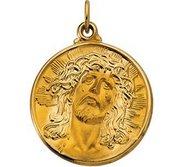 14k Gold Ecce Homo Religious Medal