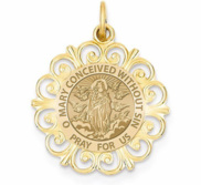 Round Filigree Immaculate Conception  EXCLUSIVE