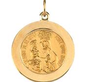 14K Gold Saint Anne de Beau Pre Religious Medal