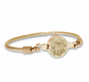 Stainless Steel Saint Benedict Bangle Bracelet
