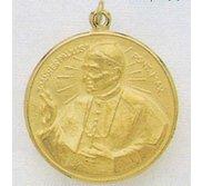 14K Gold Pope John Paul II Religious Medal