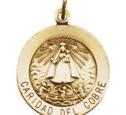 Caridad Del Cobre Round Religious Medal