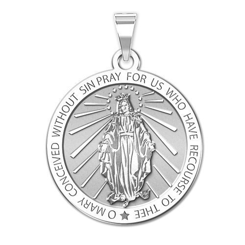 Sterling Silver 2//3 Inch Size of Dime PicturesOnGold.com Saint Eustace Religious Round Medal