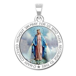 Miraculous Medal Round Color  EXCLUSIVE
