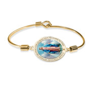 Exclusive Color Miraculous Medal Bangle Bracelet