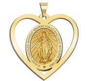 Miraculous Medal Heart Shaped Cut out  EXCLUSIVE
