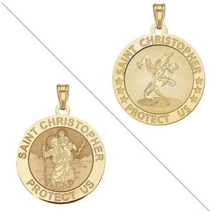 Wrestling   Saint Christopher Doubledside Sports Religious Medal  EXCLUSIVE