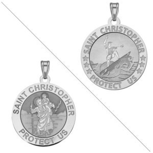 Surfing or Surf   Saint Christopher Doubledside Sports Religious Medal  EXCLUSIVE
